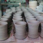Keramik aus Holzbrannt